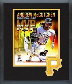 Andrew Mccutchen Framed With Team Color Double Matting Ready To Hang- Awesome & Beautiful