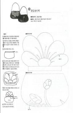 [转载]【冬日花季之三】花朵小拎包(附上图纸)