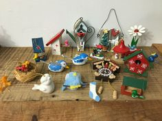 Vintage Bird Theme Christmas Ornaments Mixed Lot of 15