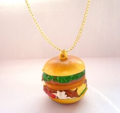 Colar hambúrguer! @ Etsy, £3.50