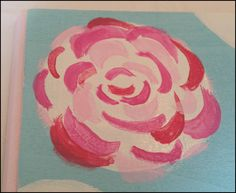 """If you're not skilled at painting (like me ), one of the easiest Lilly Pulitzer patterns to paint is, """"First Impressions"""" flowers. What I like about Lilly Pulitzer's patterns is that there are so..."""