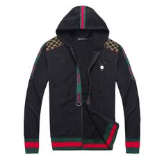 Gucci Striped Mens Jacket in Black Top Selling