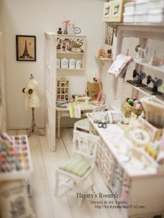 Miniature Sewing Shop - Hayatymama