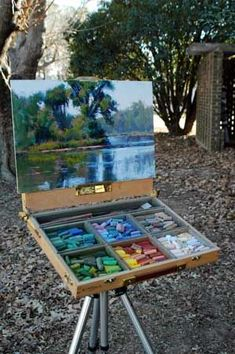 Getting ready to go outside: Marla Baggetta's Plein air Rig Soft Pastel Art, Pastel Artwork, Pastel Drawing, Soft Pastels, Pastel Paintings, Pastel Landscape, Landscape Art, Contemporary Landscape, Art Watercolor