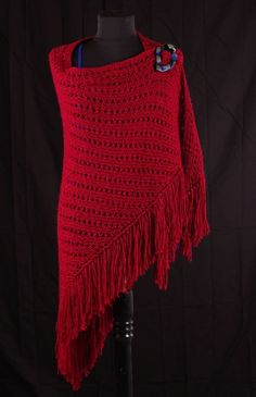 """Free Universal Yarn Pattern : Radiant Eyelet Shawl  MATERIALS   Yarn: 6 balls of Spark 136-13 Ember   Needles: Size 11 US (8.0mm) 29"""" circular needles OR SIZE TO OBTAIN GAUGE   Notions: Tapestry needle, Size K-10 1/2 (6.5mm), crochet hook"""