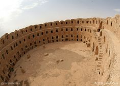 Food storage for Libyan farmers 700 years after it was built from clay.