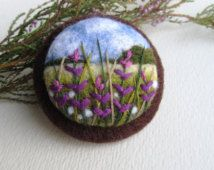 Popular items for needle felted broch on Etsy