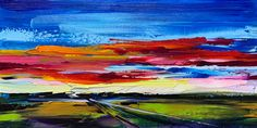 A Long Slow Exhale, oil sunset painting by Kimberly Kiel | Effusion Art Gallery + Cast Glass Studio, Invermere BC Sky Painting, Painting For Kids, Dance Paintings, Landscape Paintings, Modern Art, Contemporary Art, Wedding Painting, Cast Glass, Mountain Paintings