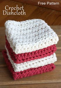 Crochet For Beginners Free Crochet Pattern. Works great for washing dishes or as a washcloth. Super easy as well to make. - A simple and free crochet dishcloth pattern - perfect for beginners! This dishcloth pattern uses the half double crochet stitch. Crochet Gratis, Knit Or Crochet, Dishcloth Crochet, Crochet Dishcloths Free Patterns, Crochet Ideas, Crochet Wash Cloths, Wash Cloth Crochet Pattern, Crochet Dish Towels, Learn Crochet