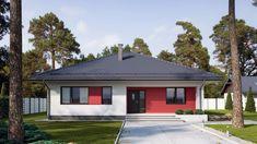 Mały, parterowy dom dla rodziny. Zobacz projekt i wnętrze Rio 2, Asana, Gazebo, Outdoor Structures, Outdoor Decor, Home Decor, Houses, Projects, Homemade Home Decor