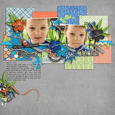 Digital Scrapbook Layout by Elizabeth | Bickering Brothers Kit | Bella Gypsy Designs & Laura Banasiak.
