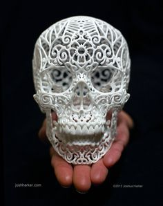 Joshua Harker's New Anatomica is Probably the Only Printed Winged Skull You Need Impression 3d, 3d Printing Industry, Day Of The Dead Skull, Sculpture Projects, Skull And Bones, Skull Art, Magazine Design, American Artists, Hand Painted