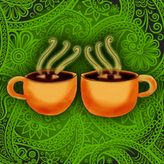 Daylight savings, double vision, double trouble coffee. What my#coffee says to me March 11