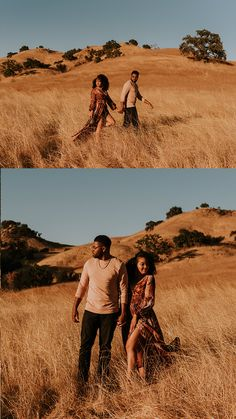 This Malibu Creek State Park engagement session features the most stylish couple, dreamiest golden hour, and an incredible view of the Santa Monica Mountains and Malibu Canyon. Captured by Carrie Rogers - a California wedding and elopement photographer. Couple Photoshoot Poses, Couple Photography Poses, Couple Shoot, Engagement Photography, Engagement Couple, Engagement Session, Engagement Photos, Bridal Session, Engagements