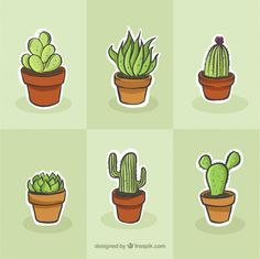 Cactus drawing set Free Vector The Effective Pictures We Offer You About cactus fondos A quality pic Succulents Drawing, Cactus Drawing, Watercolor Cactus, Cactus Art, Cactus Flower, Watercolor Drawing, Image Clipart, Art Clipart, Image Deco