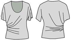 """Ejemplos de Modelos de blusas desarrollados de basan en Calcular en el """"cortador"""""""