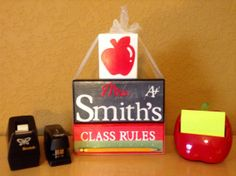 Teacher Gift / Decorative Block Letters /  Wood by NicsLoveLetters, $35.00