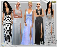 Split Skirt Gown at Dreaming 4 Sims via Sims 4 Updates