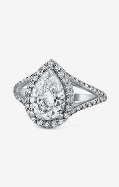Custom Ring, Petite Split Shank Halo Ring