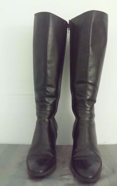SUDINI Classic Black Knee High Boots Womens Size 9 Style 53401 Made in Italy EUC #Sudini #KneeHighBoots #CasualWeartoWork