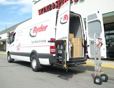 HTS Systems' HTS-20S Swing Mount swings outward in just two seconds to access and open secondary rear door. The HTS-20S is designed for Ford E250 E350 commercial cargo vans and Sprinter parcel delivery vans. Commercial hand trucks can take-up 12'-15' cubic feet of valuable cargo space!