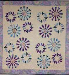 Prairie Pinwheels, Quiltworx.com, Made and quilted by Dyna Hall Creations