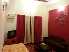 Goa Smiley Holidays Serviced Apartments India, Asia Located in Calangute, Smiley Holidays Serviced Apartments is a perfect starting point from which to explore Goa. The hotel offers guests a range of services and amenities designed to provide comfort and convenience. Facilities like 24-hour room service, car park, room service, airport transfer, family room are readily available for you to enjoy. Comfortable guestrooms ensure a good night's sleep with some rooms featuring faci...