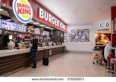 Burger King, often abbreviated as BK, is a global chain of hamburger fast food restaurants - stock photo Burger Co, Fast Food Restaurant, Stock Photos, Dubai Uae, Interior, Hamburger, Restaurants, March, Pictures