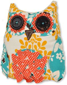 Owl fabric sewing pattern.