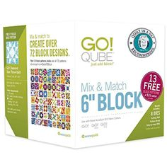 """Quilt in a Day Recommended- AccuQuilt GO! Qube Mix & Match 6"""" Block - Brought to you by Avarsha.com"""