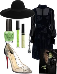 """""""Halloween Costumes by TWL: The Wicked Witch of The West"""" by thewrightlook ❤ liked on Polyvore"""