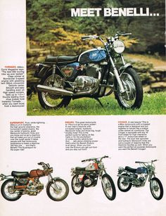 1972 Benelli Motorcycle Ad