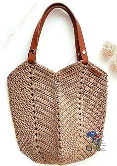Crochet net 16909 a crochet bag idea for summer - La Grenouille Tricote Filet Crochet, Crochet Wallet, Love Crochet, Diy Crochet, Crochet Hooks, Crochet Handbags, Crochet Purses, Crochet Bags, Granny Square Bag