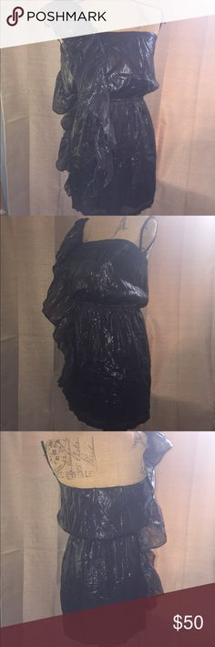 NWOT Buffalo by David Bitten dress NWOT Buffalo by David Bitten one strap party dress! Material is a shimmery black. Lined. Buffalo Dresses
