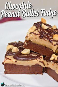 Chocolate Peanut Butter Fudge from dishesanddustbunnies.com