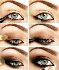 Dark golden smokey eyes