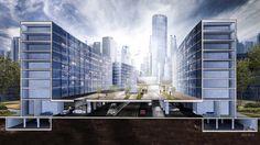 Urban Planning Urban Planning, Skyscraper, Multi Story Building, Studio, Architecture, Arquitetura, Skyscrapers, Studios, Architecture Design