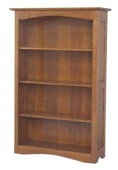 "Amish Shaker Hill Bookcase Pick from six sizes ranging from 36"" high to 84"" high to create just the amount of solid wood shelving you need. Pick wood and finish color too. Amish made in America."