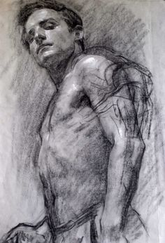 'Self Portrait' Robert Hannaford,1968. Pencil on paper.