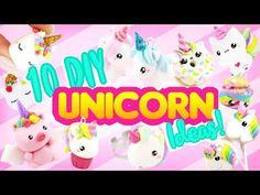 10 DIY UNICORN IDEAS! - Clay Craft Compilation! - YouTube