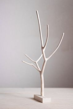 Wooden Jewelry Stand Tree Branch Decor by SilverPine on Etsy, $30.00