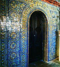 Beautiful tiles in tiny little church. #tiles #tileaddiction #ericeira #portugal by jaczc