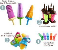 The best BPA-free popsicle molds for homemade ice pops (omigosh i love I used it a lot when Robbie was teething! Will get the others for next stage) Cosmos, Homemade Popsicles, Homemade Ice, Frozen Desserts, Frozen Treats, Smoothie Popsicles, Freeze Pops, Popsicle Molds, Baby Eating