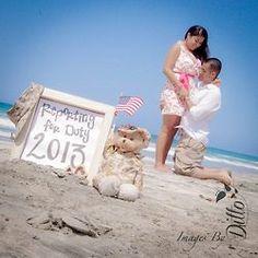 Cute military brat maternity photo idea