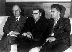 Sergei Prokofiev, Dmitri Shostakovich and Aram Khachaturian circa 1940