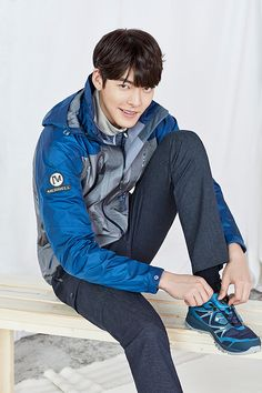 More of Kim Woo Bin for Merrell's SS 2016 Ad Campaign | Couch Kimchi