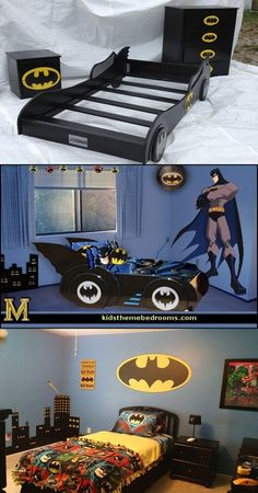 Superman and Batman Themes for Kid's Bedrooms - http://interiordesign4.com/superman-batman-themes-kids-bedrooms/