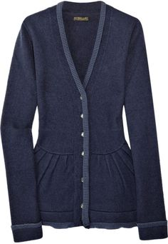 Burberry Prorsum Wool-blend Knitted Cardigan in Blue