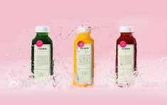 The fresh brand identity for the healthy foods and juices of Jugen. Mexican brand and design group Anagrama was responsible for this fresh healthy foods br