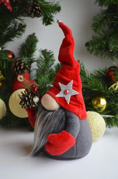Christmas Gnome Christmas Gifts Scandinavian Gnome Red Gnome Christmas Decoration Christmas Christmas Decoration - Quick, Easy, Cheap and Free DIY Crafts Christmas Gnome, Diy Christmas Gifts, Christmas Ornaments, Etsy Christmas, Primitive Christmas, Country Christmas, Gnome Ornaments, Snowman Wreath, Snowman Crafts